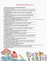English Worksheets: Reported speech: questions + key