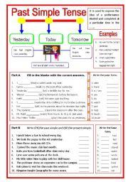 English Worksheet: Past Simple Tense - Keys