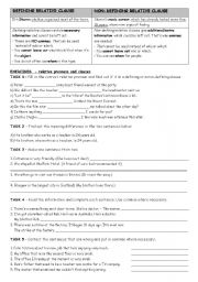 English Worksheet: Relative clauses (defining and non-defining)
