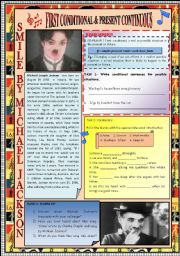 English Worksheets: FOCUS ON �FIRST CONDITIONAL� & �PRESENT CONTINUOUS� THROUGH SONG ACTIVITIES + KEY INCLUDED.