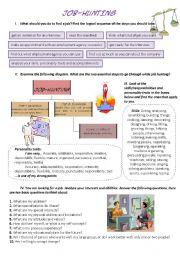 English Worksheet: JOB-HUNTING