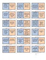 English Worksheet: Murphy´s Law Domino