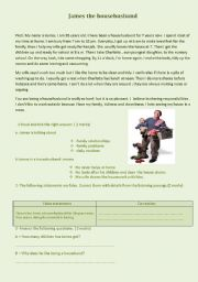 English Worksheets: James the househusband