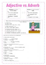 English teaching worksheets: Adjectives and adverbs