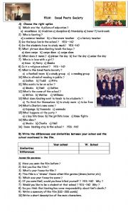 English Worksheets: Dead Poets Society