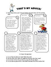 English Worksheets: That is my advice!