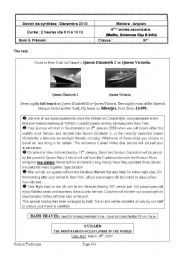 English Worksheet: End - of - term test N�1 4th form Sciences