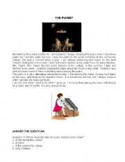 English Worksheets: The pianist