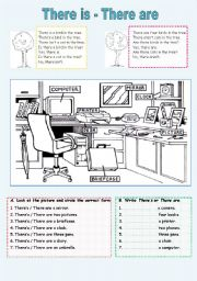 English Worksheets: There is/There are