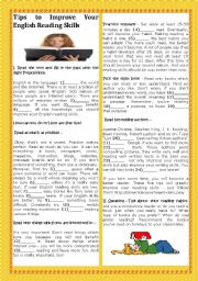 English Worksheet: BACK TO SCHOOL- TIPS TO IMPROVE YOUR ENGLISH READING SKILLS