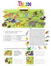 English Worksheet: new happy street 2 unit 4 The zoo