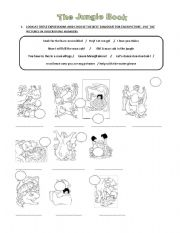 the jungle book worksheets. Black Bedroom Furniture Sets. Home Design Ideas