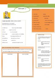 English Worksheet: QUANTIFIERS MUCH AND MANY