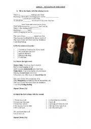 English Worksheets: Adele - Rolling the deep
