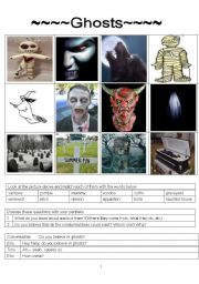 English Worksheets: ghosts