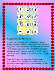 English Worksheets: Telephone Momonics
