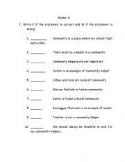English Worksheets: Community