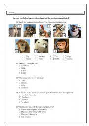 English Worksheets: Animals United Activity