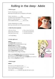Rolling in the Deep - Adele - Worksheet
