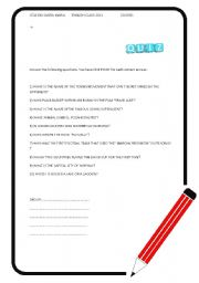 English Worksheets: Quizz
