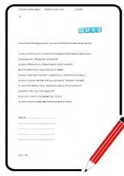 English Worksheets: Crazy quizz 3