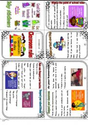 My classroom rules minibook - ESL worksheet by Mariethe House