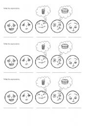 English Worksheets: Write the expressions.