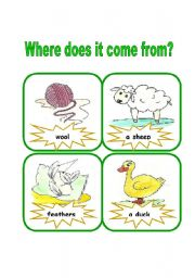 English Worksheets: Where does it come from?