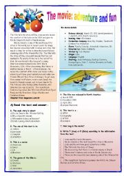 English Worksheets: Rio the Movie: adventure and fun
