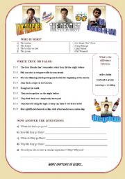 English Worksheets: THE HANGOVER movie session - SECOND VERSION