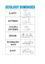 English worksheet: ecology dominoes