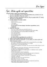 english teaching worksheets superstitions. Black Bedroom Furniture Sets. Home Design Ideas