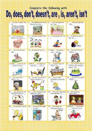 English Worksheets: AUXILIARY  TO DO AND TO BE