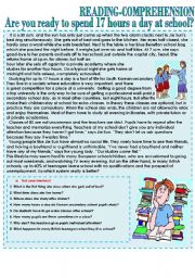 English Worksheets: SCHOOL ISSUES. Reading-comprehension text.