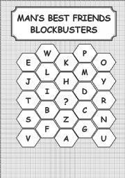 English Worksheets: ANIMAL - BLOCKBURSTERS