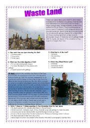 English Worksheets: WASTE LAND