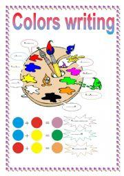 English Worksheets: COLORS WRITING