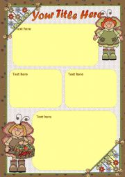 English Worksheets: FREE TEMPLATE