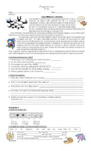 English Worksheet: New headway elementary unit 12/13