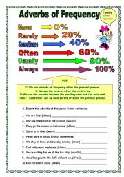 English Worksheet: Adverbs of frequency (23.02.09)