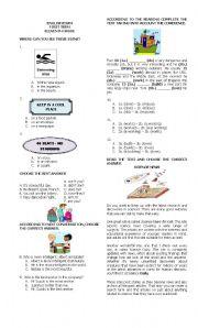 English Worksheet: Evaluation 11th grade