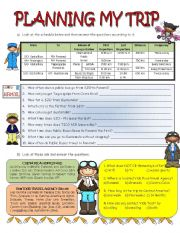 English Worksheets: Planning my Trip