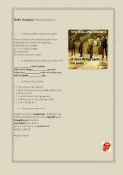 English Worksheets: Ruby Tuesday - The Rolling Stones