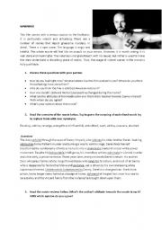 American History X - Movie , Lesson worksheet