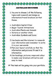 English Worksheets: Australian Brochure