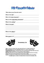 English Worksheets: Movie Questionaire