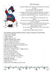 English Worksheet: Snowman