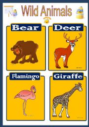 English Worksheet: Wild Animal Flashcard 4