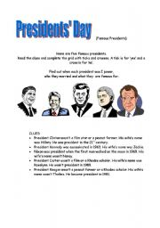 English Worksheets: President�s Day