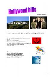 English Worksheet: Hollywood hills